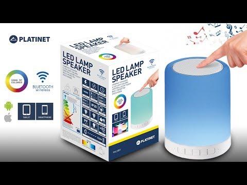 Unboxing Lámpara LED táctil + Altavoz bluetooth PDLSB01 de Platinet