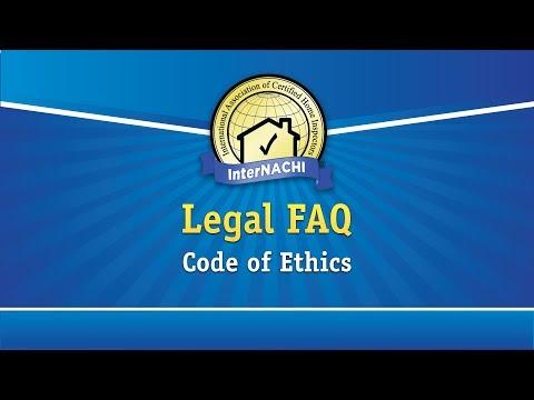 Legal FAQ: Code of Ethics for Home Inspectors