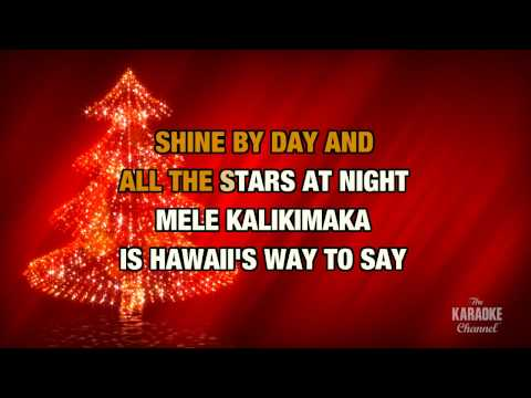 "Mele Kalikimaka in the Style of ""Jimmy Buffett"" with lyrics (with lead vocal)"