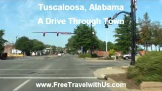 A Drive Down University Blvd in Tuscaloosa Alabama