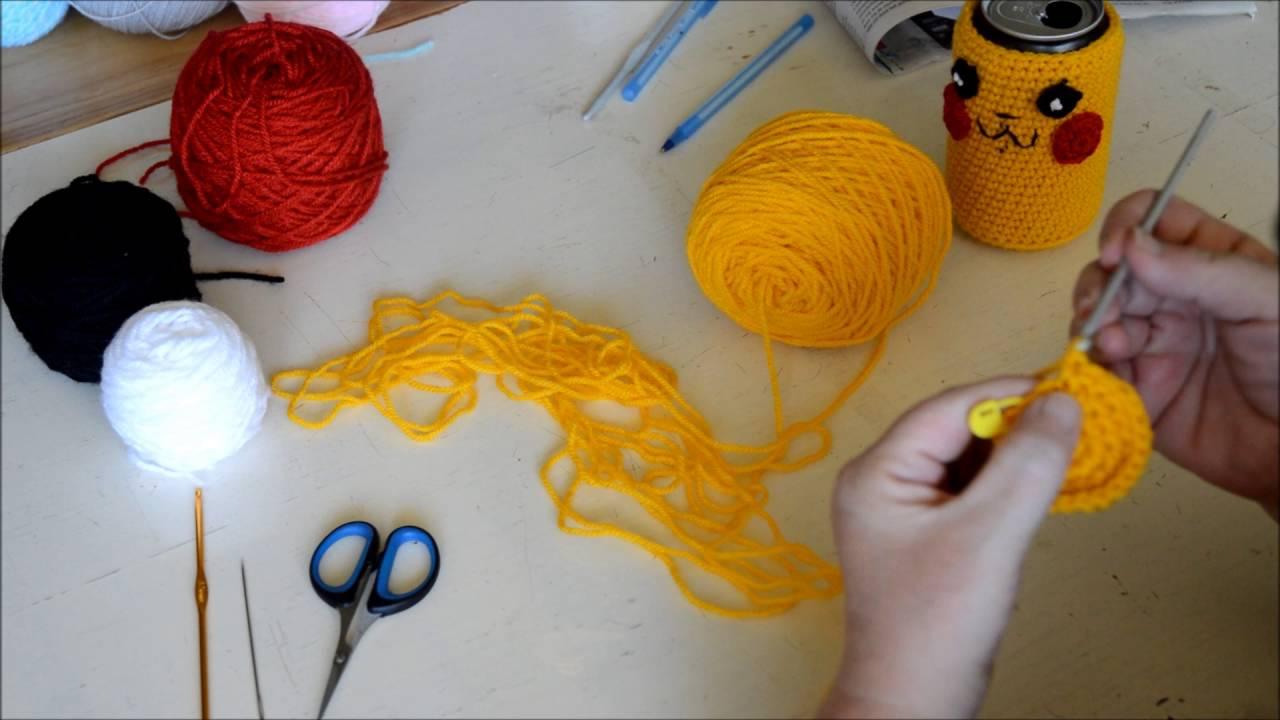 Pikachu Can Cozy - Crochet - Tutorial - English - YouTube