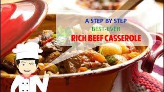 Best Ever RICH BEEF CASSEROLE