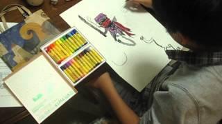 今回は小学6年生のお子さんにオリジナルキャラを作るべんきょうをして...