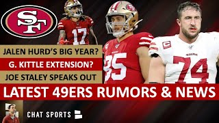 49ers Rumors & News: George Kittle Contract? Jalen Hurd's Role + Joe Staley Talks About Retirement