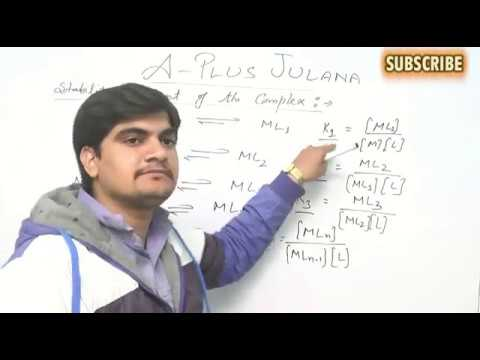B SC FINAL THERMODYNAMIC AND KINETIC STABILITY IN METAL COMPLEX BY JITENDER  DOON SIR