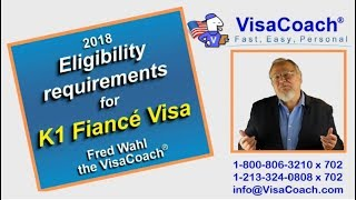 K1 Fiance visa requirements for 2018