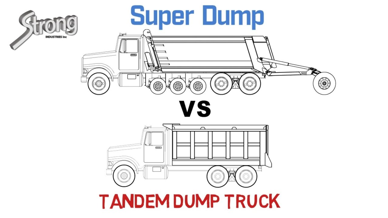 Super Dump Vs Tandem Truck