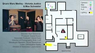 Victoria Justice Max Schneider Bruno Mars medley breakdown