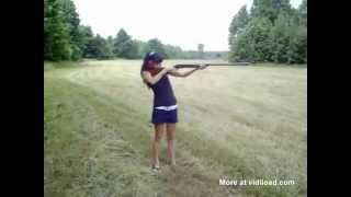 Girl Gets Knocked Out By The Gun Recoil