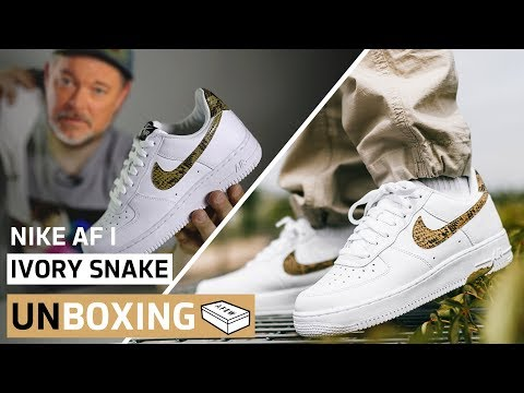 Nike Air Force 1 Ivory Snake | Unboxing + On Feet | AFEW