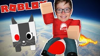 Taking my CYBORG PET to the MOON! - Roblox Pet Simulator Part 2
