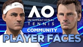 Joueur Visages (Djokovic, Murray, Federer) | AO Internationale de Tennis