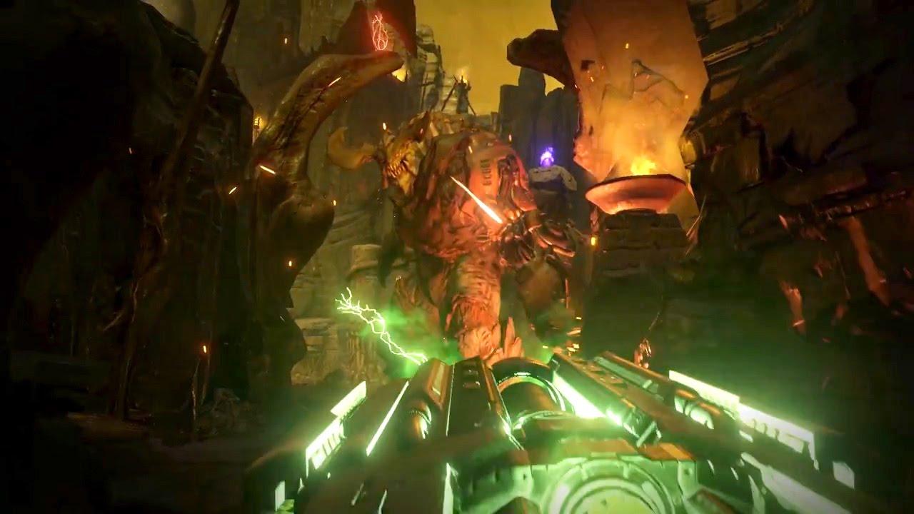 Doom Gameplay Trailer Doom At E3 2015 Trailer Youtube