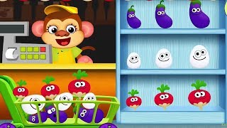 Funny Foods For Baby Play & Learn Colors Fruits, Vegetables - Fun Educational Game For Kids