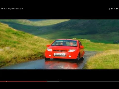 Fifth Gear Cheapest Cars, Steepest Hill