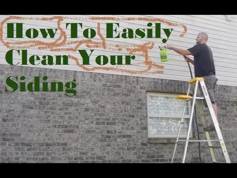 How To Easily Clean Algae And Moss Off Your Siding Youtube