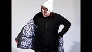 XTM Sienna Womens Plus Size Snow Jacket Black
