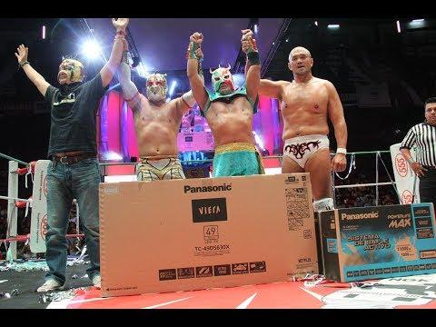 Ultimo Dragón, Caristico y Jun Akiyama vs Ultimo Guerrero, Joe Doering y Sam Adonis