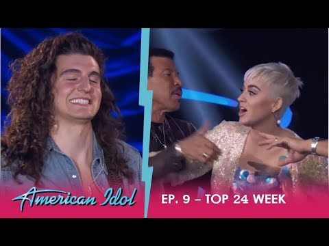 Cade Foehner: KATY PERRY LOSES IT OVER SEXY HOT ROCKERS Performance!! | American Idol 2018