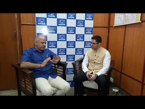 Delhi Dy CM @msisodia is in conversation with @ReachDanish Executive Editor @ibtimes_india