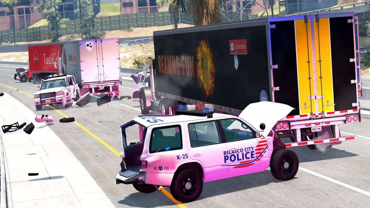 Convoys vs. Cops 3   BeamNG.drive