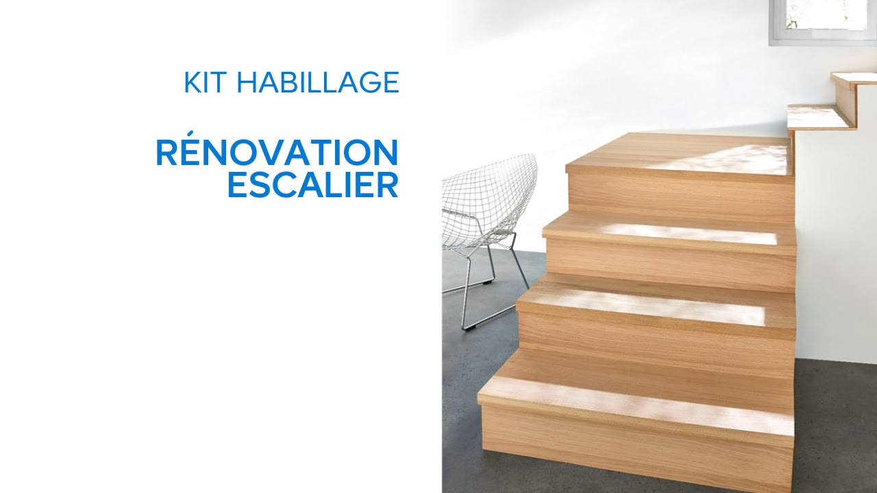 kit habillage r novation escalier 694636 castorama youtube. Black Bedroom Furniture Sets. Home Design Ideas