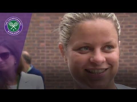 Kim Clijsters looks ahead to Wimbledon 2017 ladies' quarter-finals