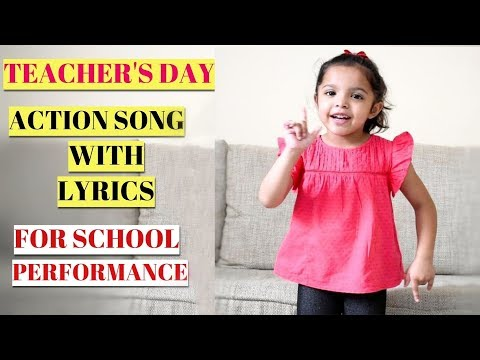 5th Sep Teacher's Day Action Song With Lyrics For Kids | TeacherSee the Good Inside me