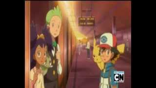 Pokemon B/W - Ash Says Goodbye To Iris & Cilan