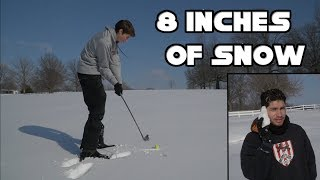 Playing Golf in 8 Inches of Snow - GM GOLF