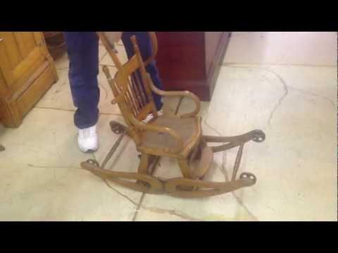 Victorian Oak Convertible High Chair