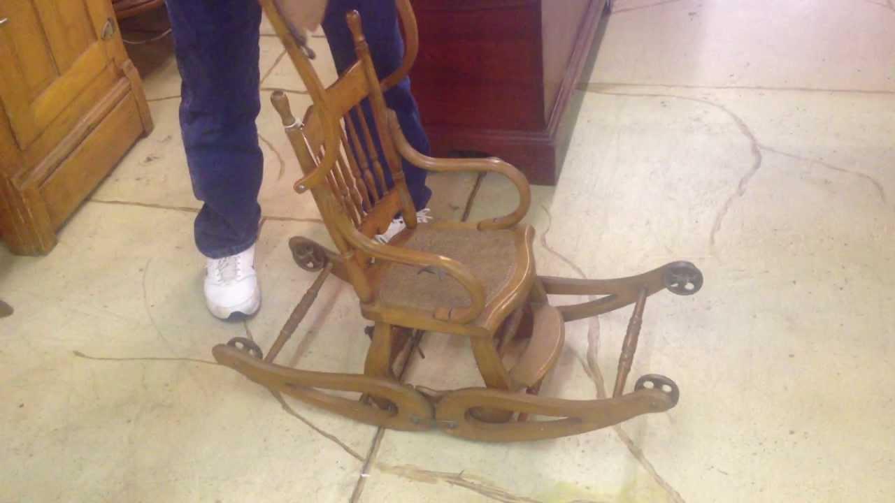 Victorian Oak Convertible High Chair YouTube