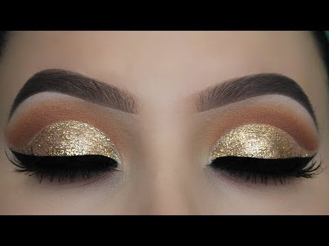Crystal Gold Glitter Eye Makeup Tutorial thumbnail