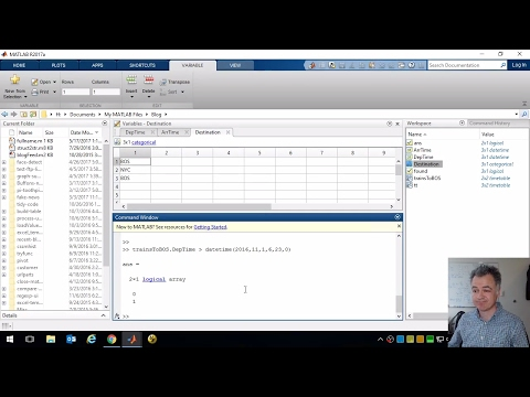 Use a Timetable to Analyze a Train Timetable Part 1 - MATLAB Live - Code-Along with Stuart McGarrity