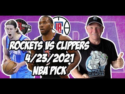 Houston Rockets vs Los Angeles Clippers 4/23/21 Free NBA Pick and Prediction NBA Betting Tips
