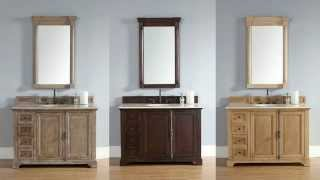 "New Providence 48"" James Martin Bathroom Vanities In Solid Wood From Homethangs.com"