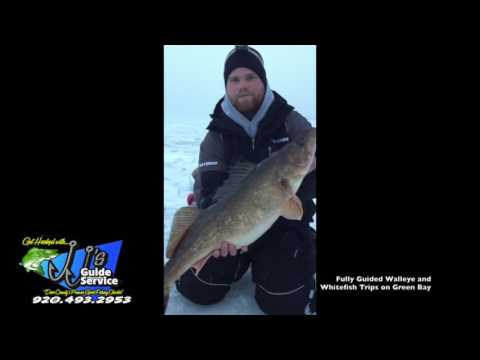Green Bay Ice fishing Guide Whitefish and Walleye in Door