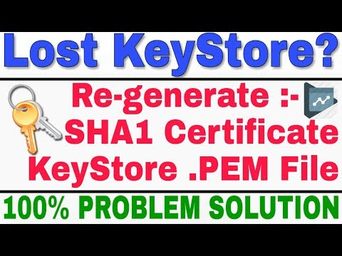 Lost KeySotre ! How To Recover And How To Make PEM Format To Key Store.