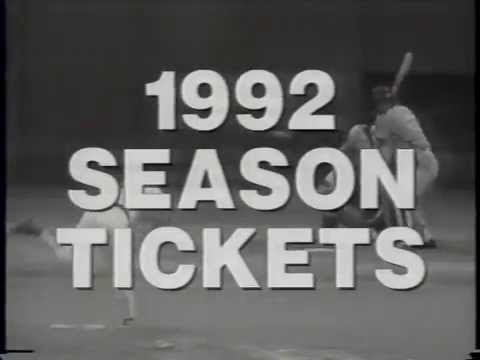 1992 Pittsburgh Pirates Season Ticket Commerical