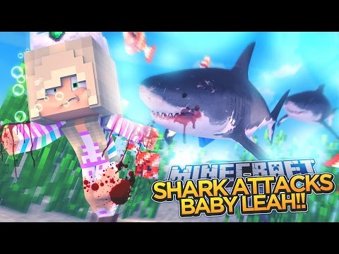 BABY LEAH IS EATEN BY A SHARK!!! - Minecraft - Little Donny Adventures.