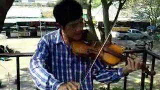 Bridge On The River Kwai - Thai Man Playing` Col. Bogey -  On A Violin ( Badly )