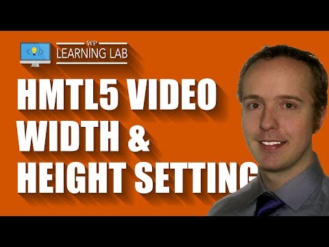 HTML5 Video Width Height Parameters Allow You To Define Width And Height