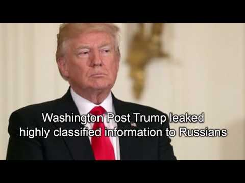 Washington Post Trump leaked highly classified information