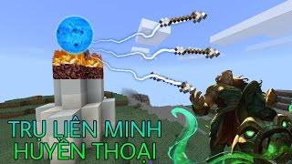 Cách Xây 1 Cái Trụ Bắn Tên Trong Liên Minh Huyền Thoại - Minecraft PE