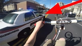 SUICIDE SWERVING POLICE CARS - STOLE HIS BIKE!!