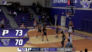 Stonehill Women's Basketball Highlights and Post-Game Interview vs Pace