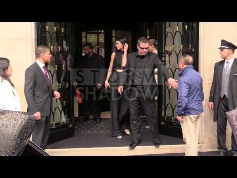 Kardashian family leaves the Georges V hotel for Kim and Kanye wedding