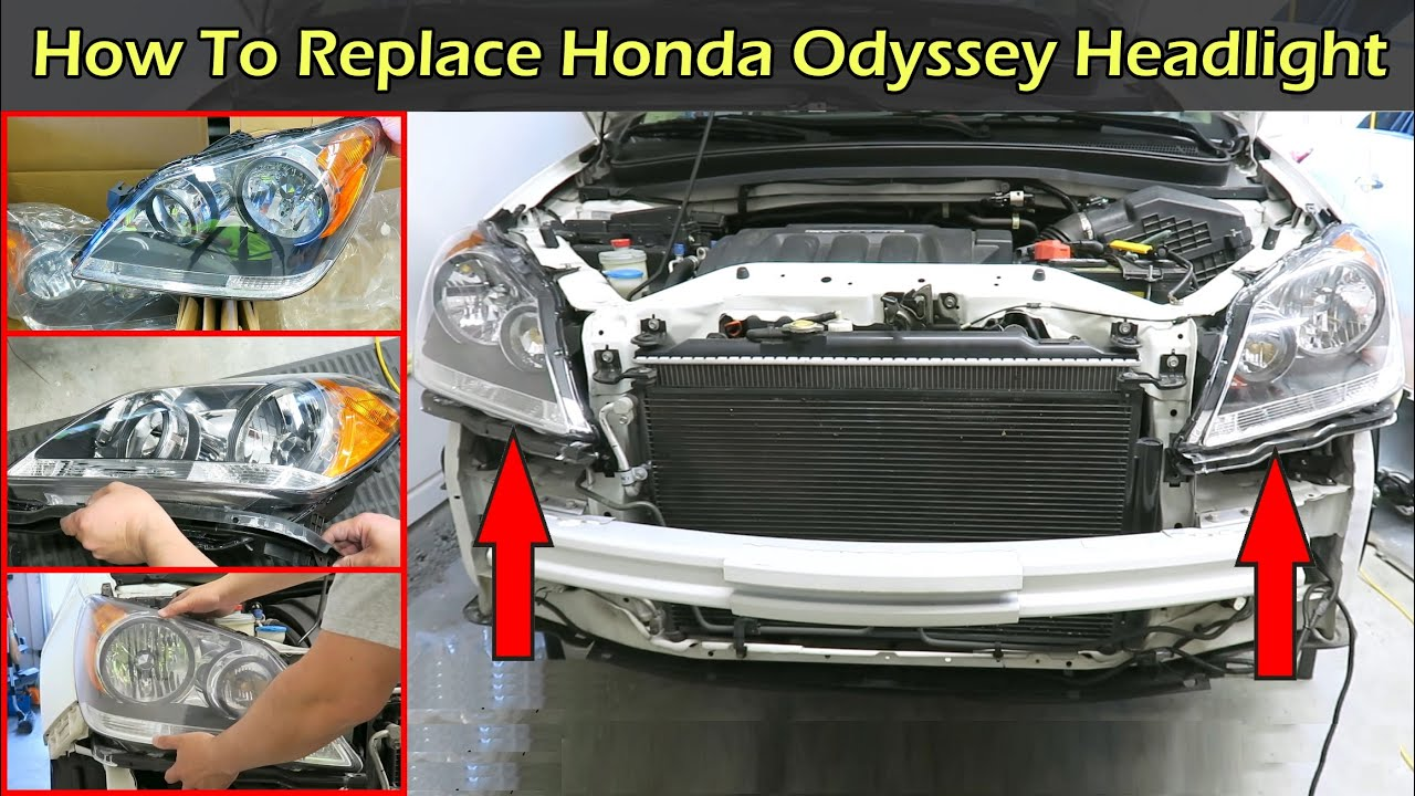 How To Replace Honda Odyssey Headlight 2005 2010