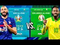 EURO 2021 All-Stars vs. COPA AMERICA 2021 All-Stars! - FIFA 21 Career Mode