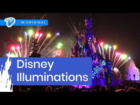 Disney Illuminations Disneyland Paris FULL SHOW 4K 25th Anniversary Nighttime Spectacular